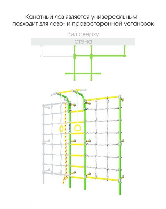 Шведская стенка Романа Karusel S3 (зелёное яблоко)