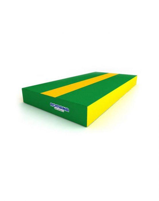 Маты ROMANA (1м*0,5м*0,1м) (зелёный/жёлтый)
