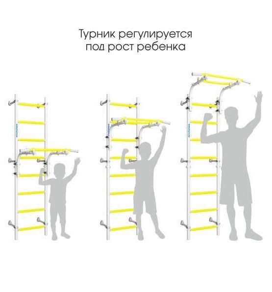 Шведская стенка Романа NEXT Top (белый прованс)