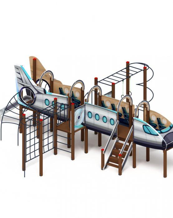 Детский игровой комплекс «Аэроплан» ДИК 1202 H=1200