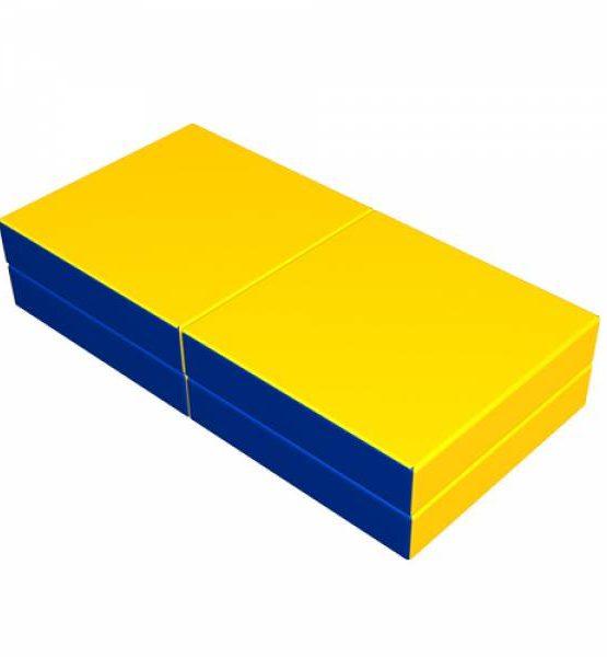Мат складной ROMANA (синий) 1000х1000х100 мм