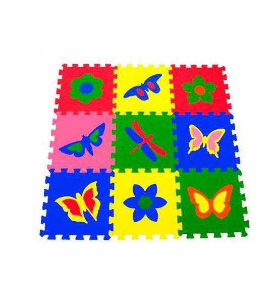 Коврик-пазл 33х33 см (Бабочки)