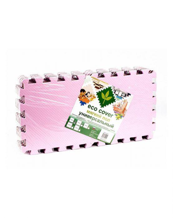 Коврик-пазл 25*25 (розово-коричневый)