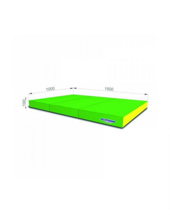 Мягкий щит Romana pro 1*1,5*0,1м тройной (светлозелёный/жёлтый)