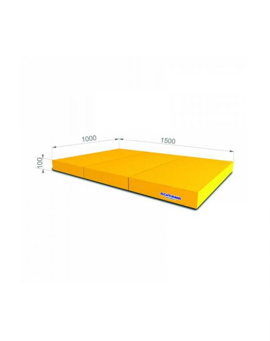 Мягкий щит ROMANA 1*1,5*0,1 м тройной (жёлтый)