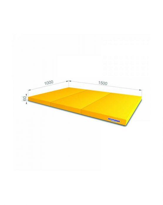 Мягкий щит Романа  1*1,5*0,06м тройной (жёлтый)