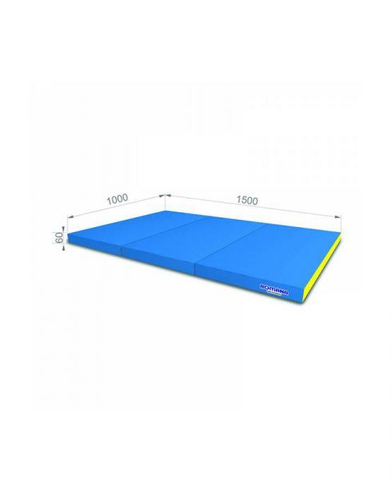 Мягкий щит Романа 1*1,5*0,06м тройной (голубой/жёлтый)