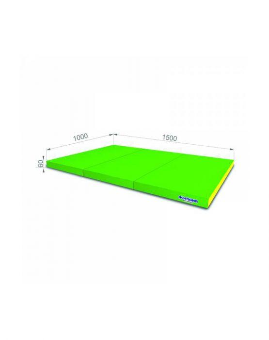 Мягкий щит Romana 1*1,5*0,06 м тройной (светло-зелёный/жёлтый)