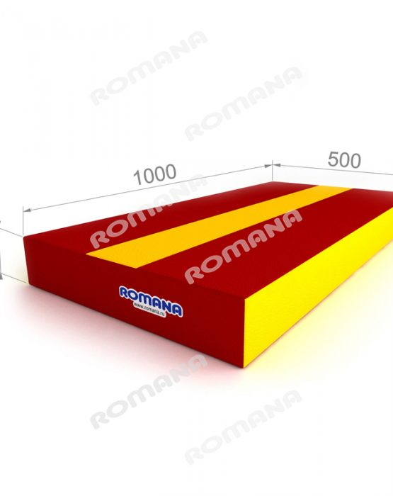 Мягкий щит РОМАНА (100*50*10 см) красный/жёлтый