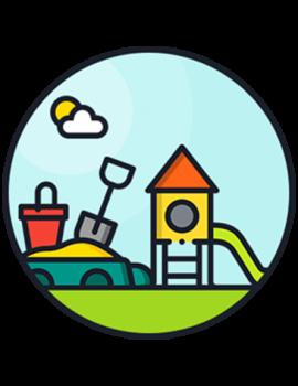 Песочницы, горки, домики, игровые формы
