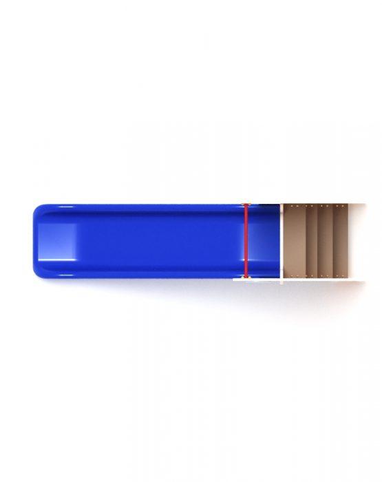 Горка пластиковая (синяяя)