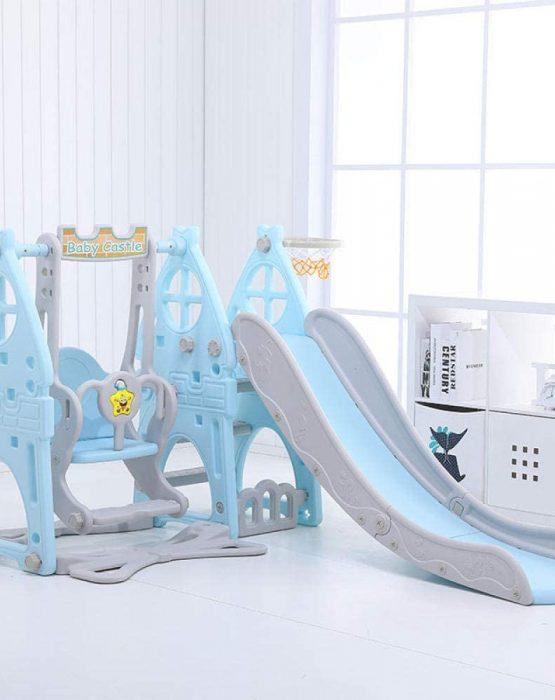 Детский игровой комплекс HT-3-2 Замок (голубой)