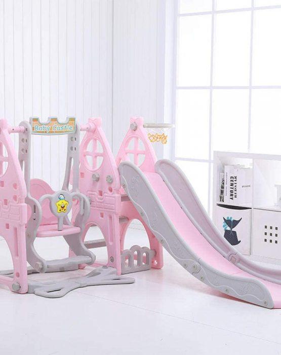 Детский игровой комплекс HT-3-2 Замок (розовый)
