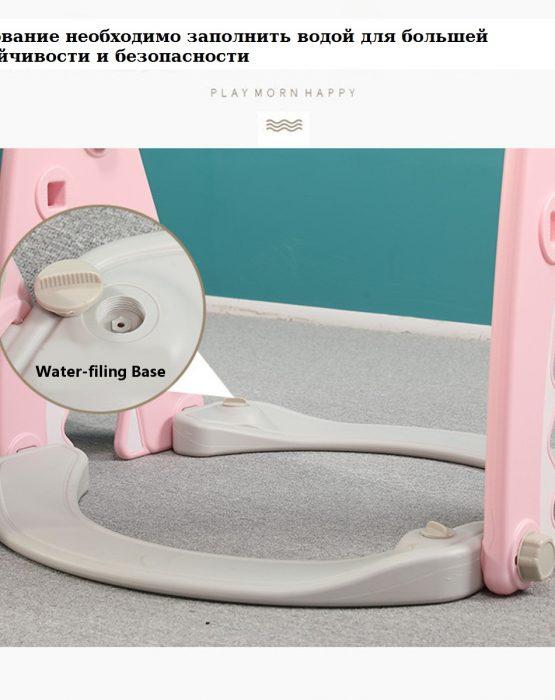 Детский игровой комплекс HT-1-2 Акула (розовый)