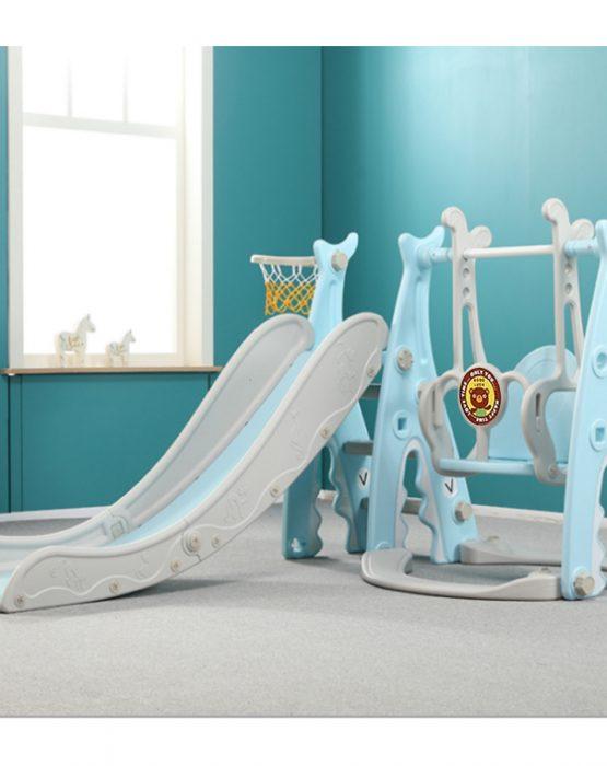Детский игровой комплекс HT-1-2 Акула (голубой)