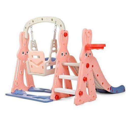Детский игровой комплекс Зайка (розовый)