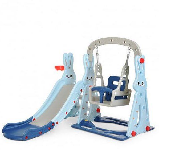 Детский игровой комплекс Зайка (голубой)